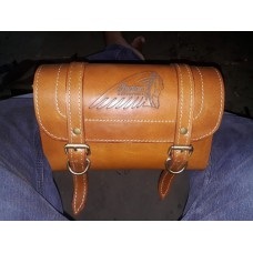Pure leather tool bag with INDIAN logo